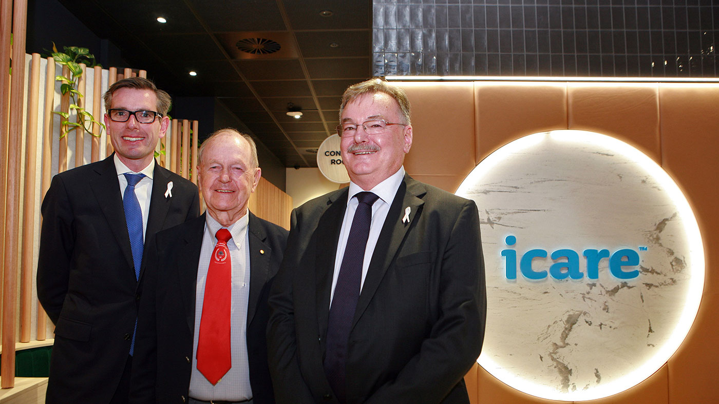 Treasurer and Minister for Industrial Relations Dominic Perrottet, CEO and Managing Director John Nagle