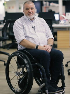 Man in wheelchair - Remarkable Accelerator