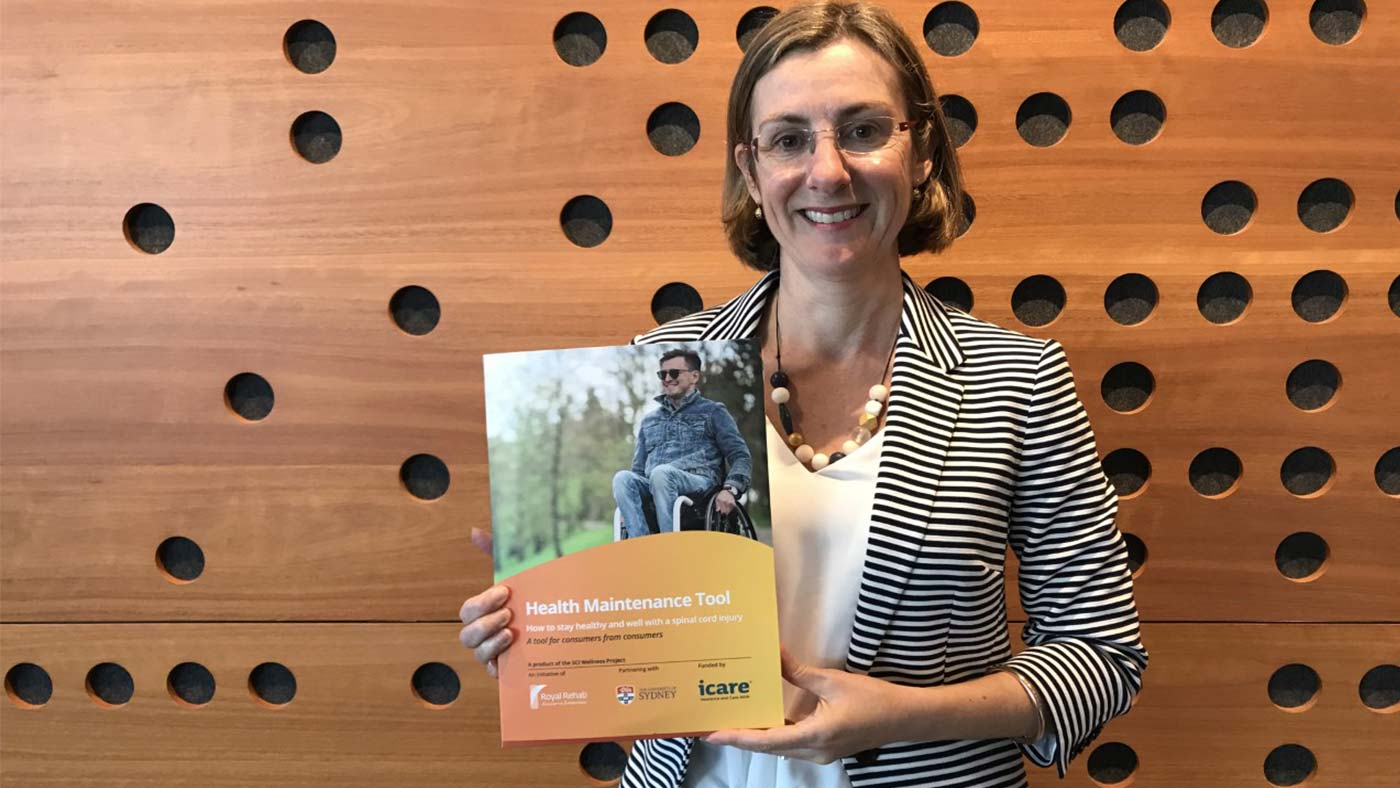 Jacqueline Scott with the Spinal Cord Injury Health Maintenance Toolkit