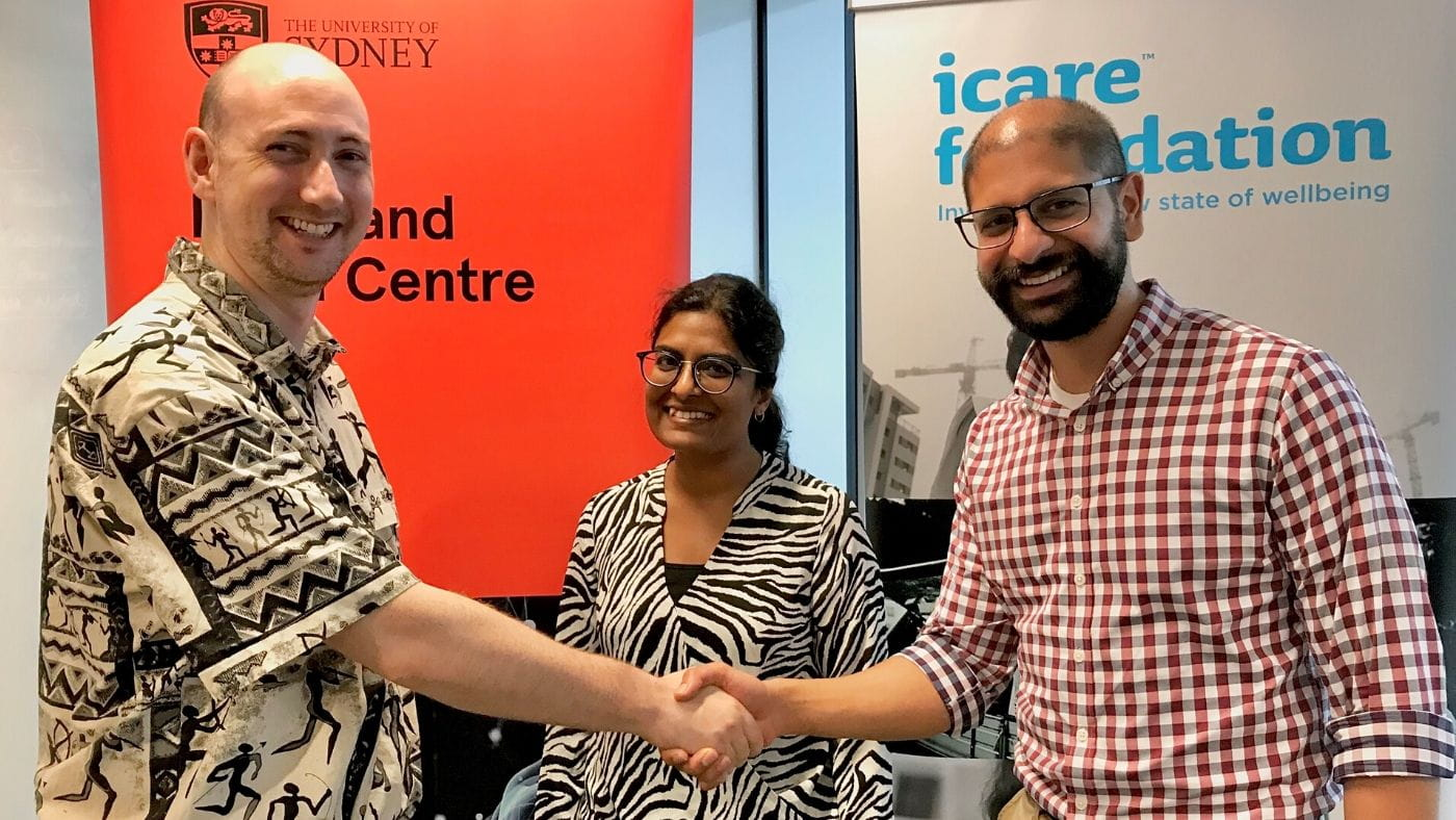 icare Foundation Psychiatric fellows from left to right: Dr Bernard Myers, Dr Abrirami Ratnagopal and Dr Kiran Lele